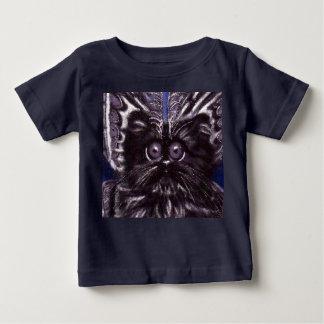 Black Cat Moth Cat Baby T-shirt