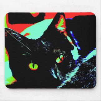 Black Cat Mouse Mat