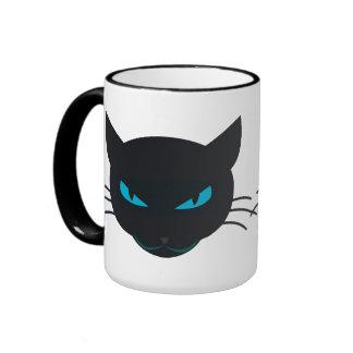 Black Cat Ringer Mug