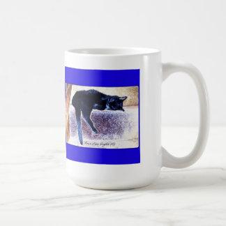 Black Cat Nap Basic White Mug