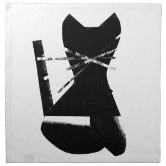 Black cat napkin