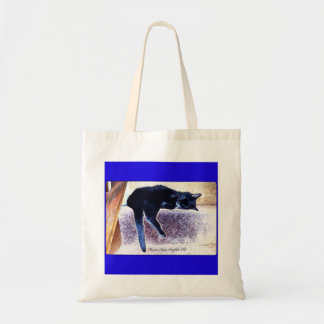 Black Cat Napping Canvas Bags