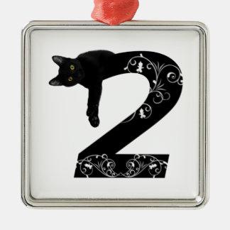 Black cat No.2 Christmas Ornament