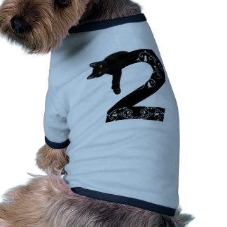 Black cat No.2 Ringer Dog Shirt