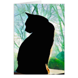 Black Cat Note Cards