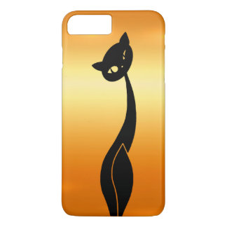 Black Cat on Gold iPhone 7 Barely There Case