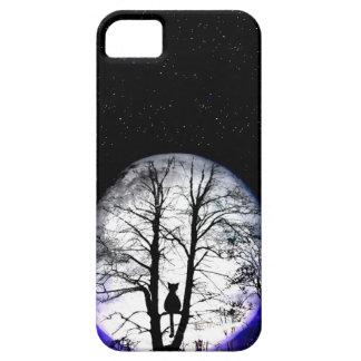 black cat on tree iPhone 5 case