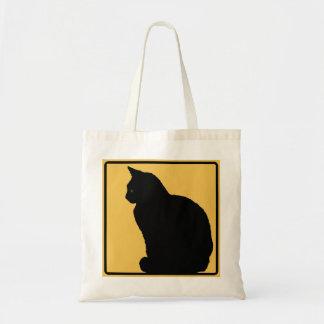 Black Cat Orange Canvas Bags