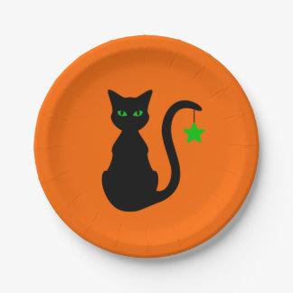Black Cat Paper Plate