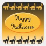 Black Cat Parade Halloween Design Stickers