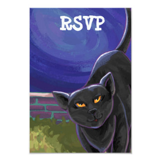 Black Cat Party Center 3.5x5 Paper Invitation Card