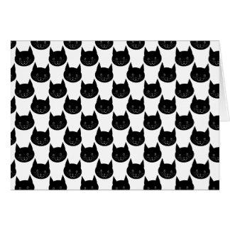 Black Cat Pattern Cards