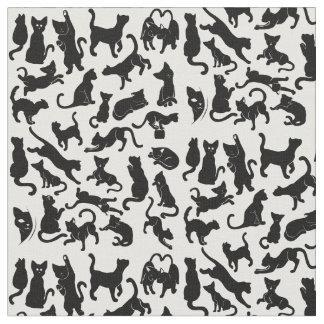 Black Cat Pattern Fabric
