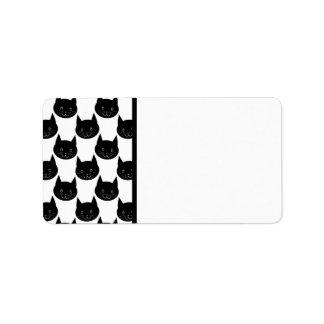 Black Cat Pattern. Label