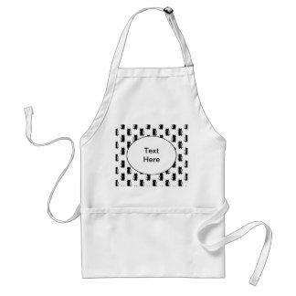 Black cat pattern. standard apron