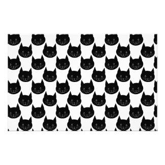 Black Cat Pattern. Stationery