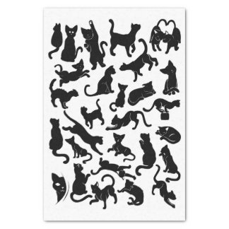 Black Cat Pattern Tissue Paper