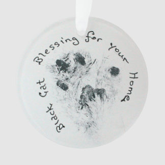 Black Cat Paw Print Home Blessing Decoration