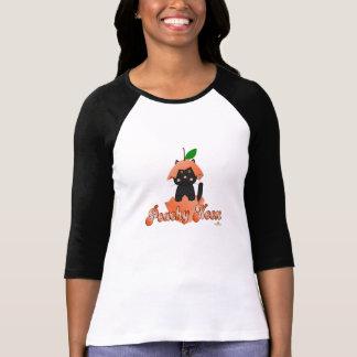 Black Cat Peach Peachy Keen T Shirt