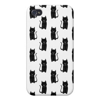 Black cat pern. cover for iPhone 4