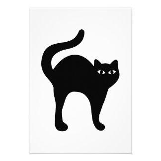 Black cat personalized invitation
