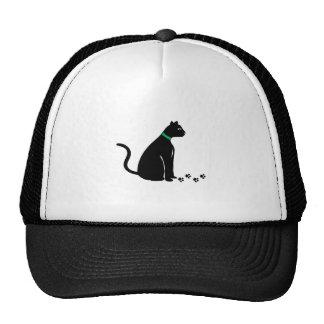 Black Cat Prints Mesh Hat