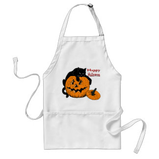 Black Cat Pumpkin Aprons