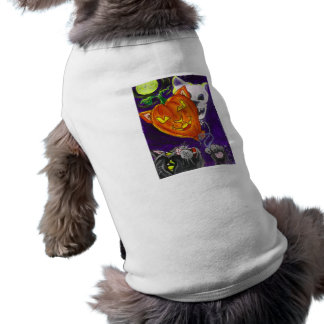 Black Cat Pumpkin Skull Balloons Halloween Art Pet Clothes