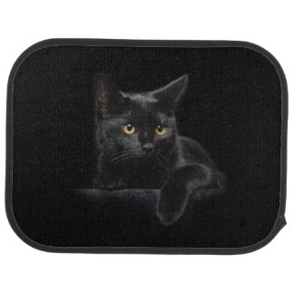 Black Cat Rear Car Mat