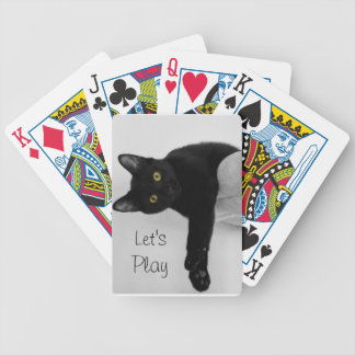 Black Cat relaxing on couch Bicycle Playing Cards