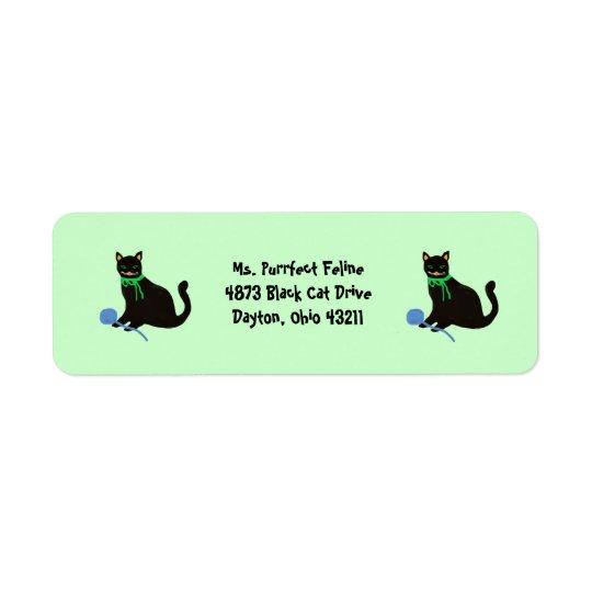 Black Cat Return Address Labels