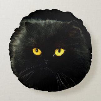 Black Cat Round Cushion