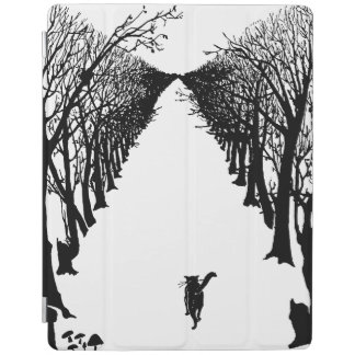 Black cat, Rudyard Kipling iPad Cover