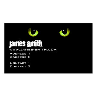Black Cat s Eyes Green Business Cards