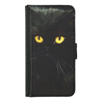 Black Cat Samsung Galaxy S5 Wallet Case