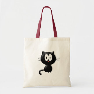 Black Cat Scardy Cat Halloween Gift Tote Bags