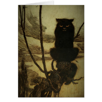 Black Cat Scowling Card