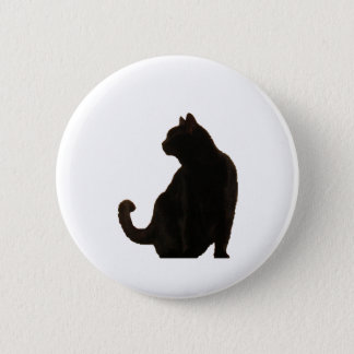 Black Cat Silhouette 6 Cm Round Badge