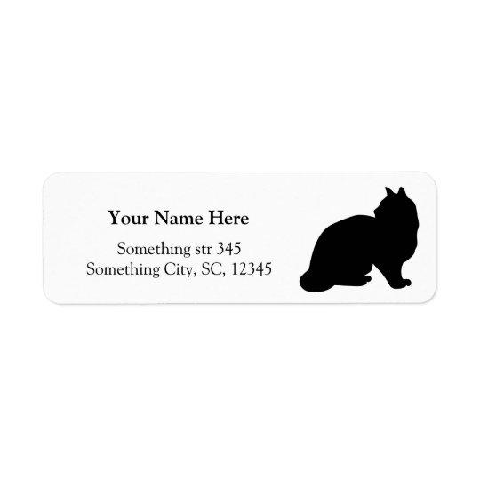 Black cat silhouette custom address labels