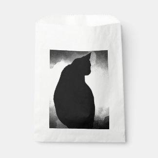 Black Cat Silhouette Favor Bags