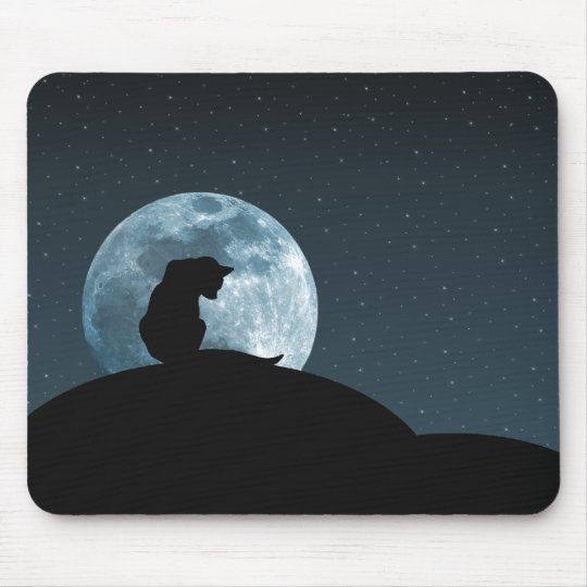 Black Cat Silhouette Mousepad