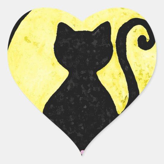 Black Cat Silhouette sticker