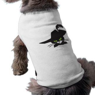 Black Cat Sleeveless Dog Shirt