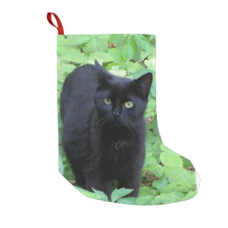 Black Cat Small Christmas Stocking