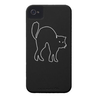 Black Cat spooky image iPhone 4 Covers