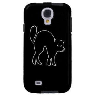 Black Cat spooky image Galaxy S4 Case