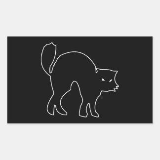 Black Cat spooky image Rectangular Sticker