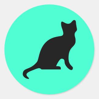 Black Cat - Spooky Scary Round Sticker