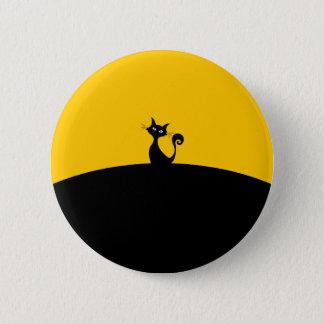 Black Cat Standard, 2¼ Inch Round Button