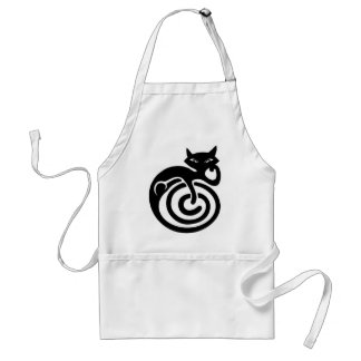 Black cat. standard apron